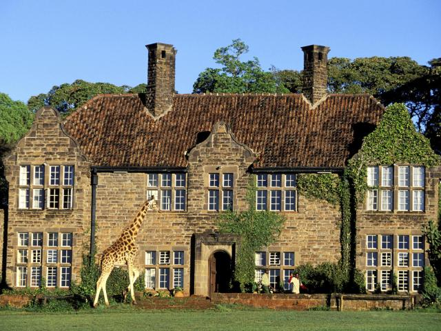 Kenya, Nairobi region, the Giraffe Manor